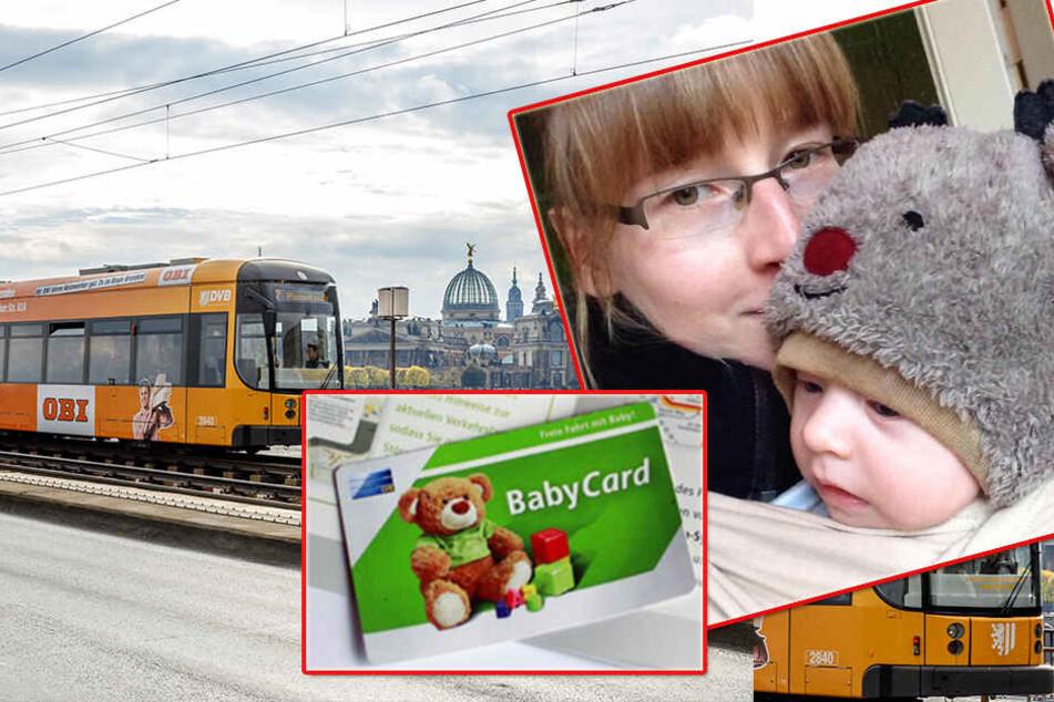 Bald kostenlos Bus und Bahn fahren? Junge Mutter fordert BabyCard für Dresden