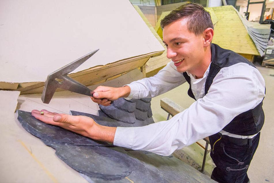 Paul (19) ist Sachsens bester Dachdecker-Lehrling!