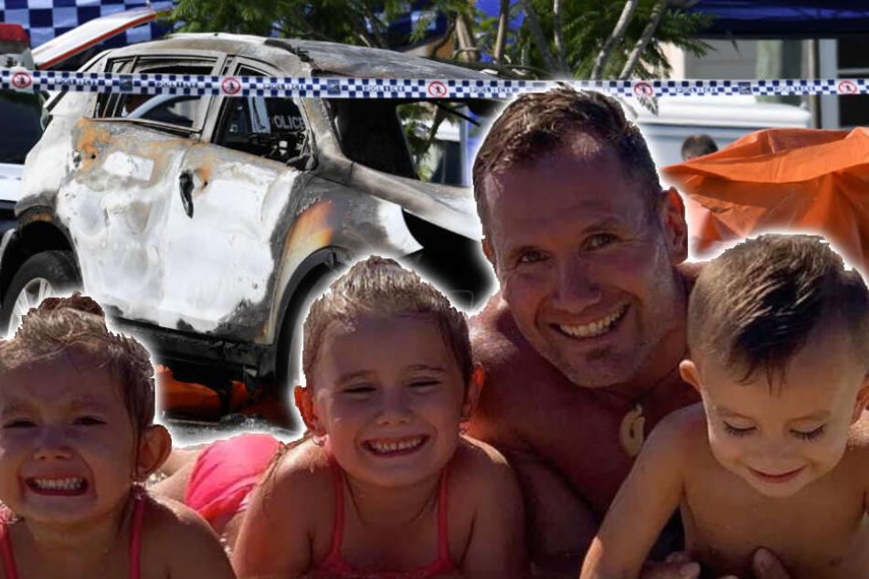Familie verbrennt in Flammenhölle: Ex-Rugby-Star soll alle mit Benzin übergossen und angezündet haben