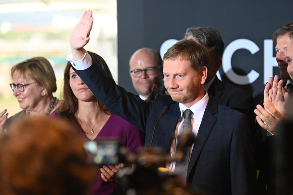 Michael Kretschmer nach Bekanntwerden der ersten Hochrechnungen.