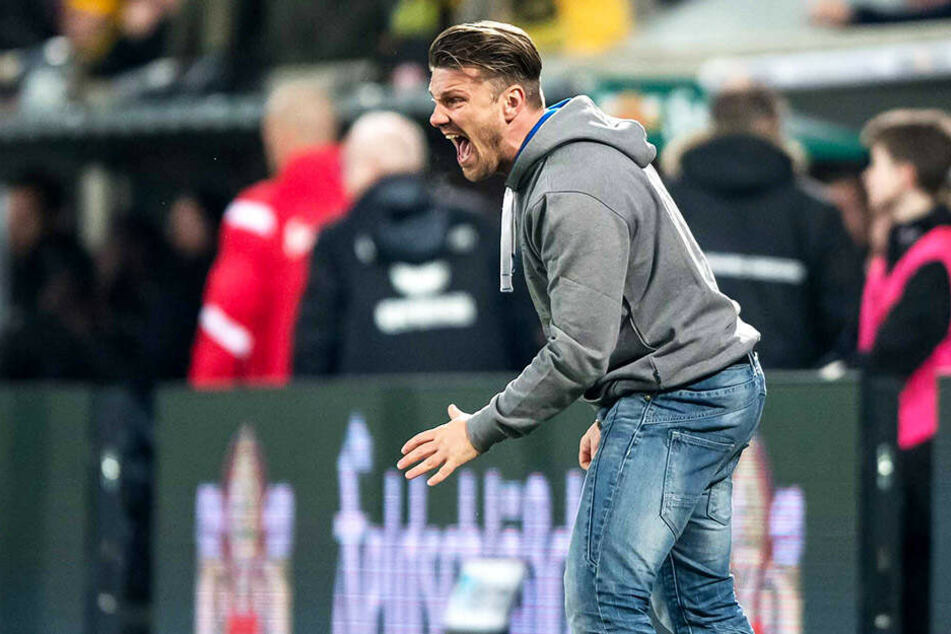 Drittliga-Coach Lukas Kwasniok war beim 1:1 gegen den Karlsruher SC etwas in Rage geraten.