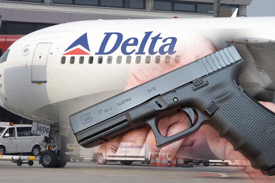 Ein Air Marshal vergaß ihre geladene Waffe auf der Flugzeug-Toilette.