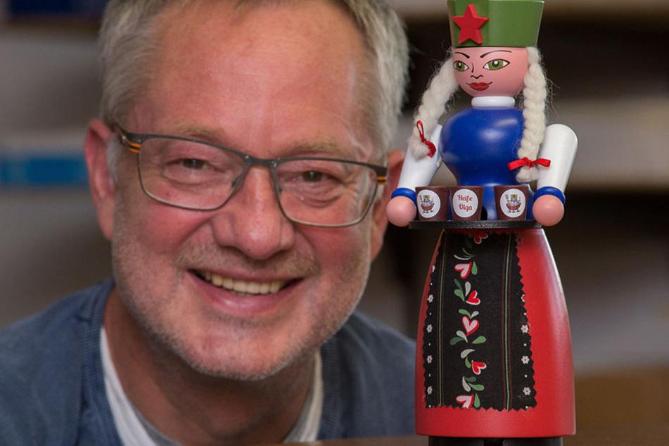 Er wehrt sich gegen Eingriffe in die Tradition: Männelmacher Tino Günther (55).