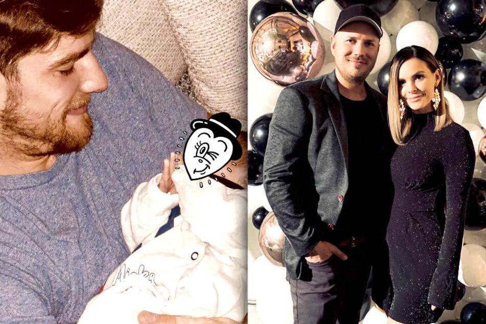 Der kleine Ben-Matteo lebt bei Mama Denisé Kappés (28) und ihrem neuen Freund Tim. Papa Pascal (28, l.) bekommt er nur selten zu Gesicht.