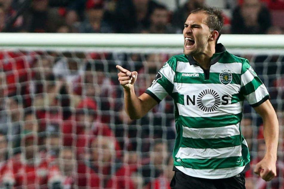 Gkeich in seiner ersten Saison bei Sporting Lissabon wurde Bas Dost Torschützenkönig in der Primeira Liga.
