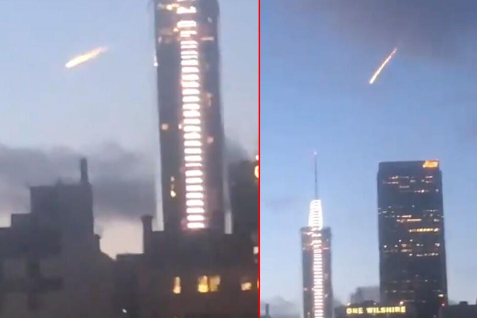 Ein Twitter-User filmte den vermeintlichen Feuerball am Himmel über Los Angeles.