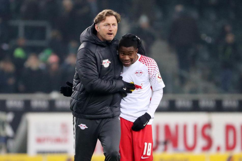 Trainer Ralph Hasenhüttl freut sich, dass er mit Ademola Lookman einen gefährlichen Angreifer in der Hinterhand hat.