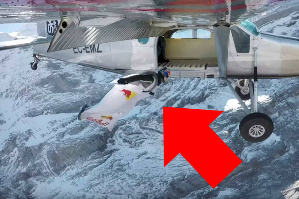 Unglaublich! Basejumper schaffen Sprung von Berg in Flugzeug