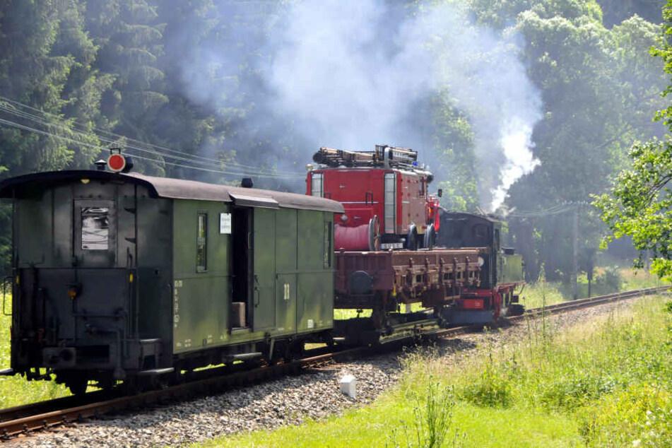 Güterzüge wie dieser prägten einst die Schmalspurbahn-Strecke.