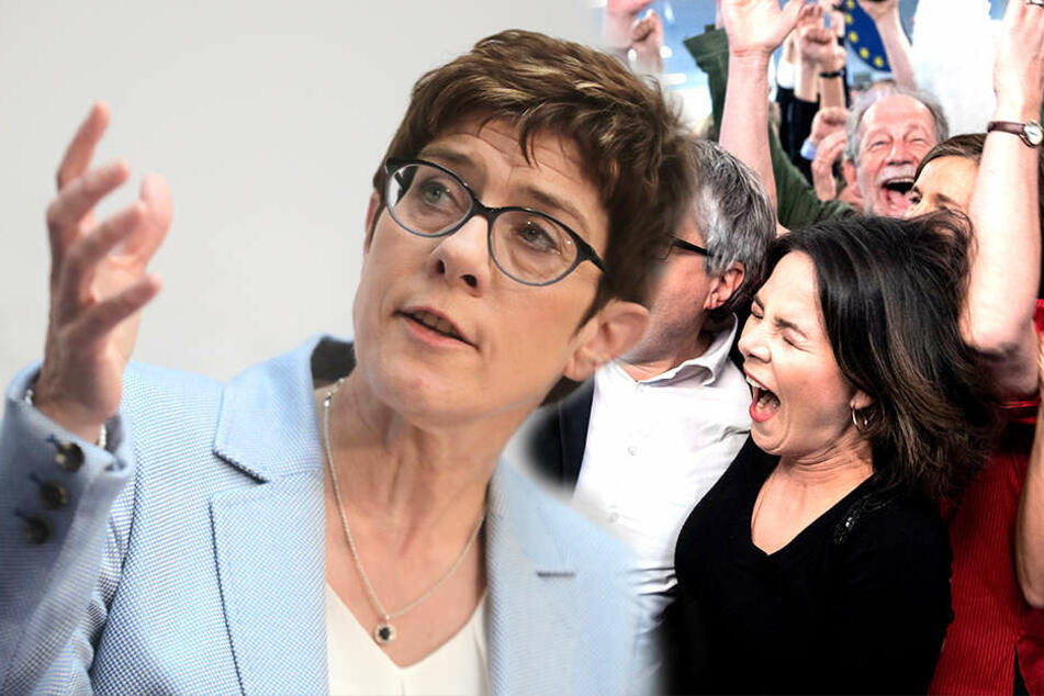 Debakel für CDU und SPD: Grüne jubeln nach Europawahl