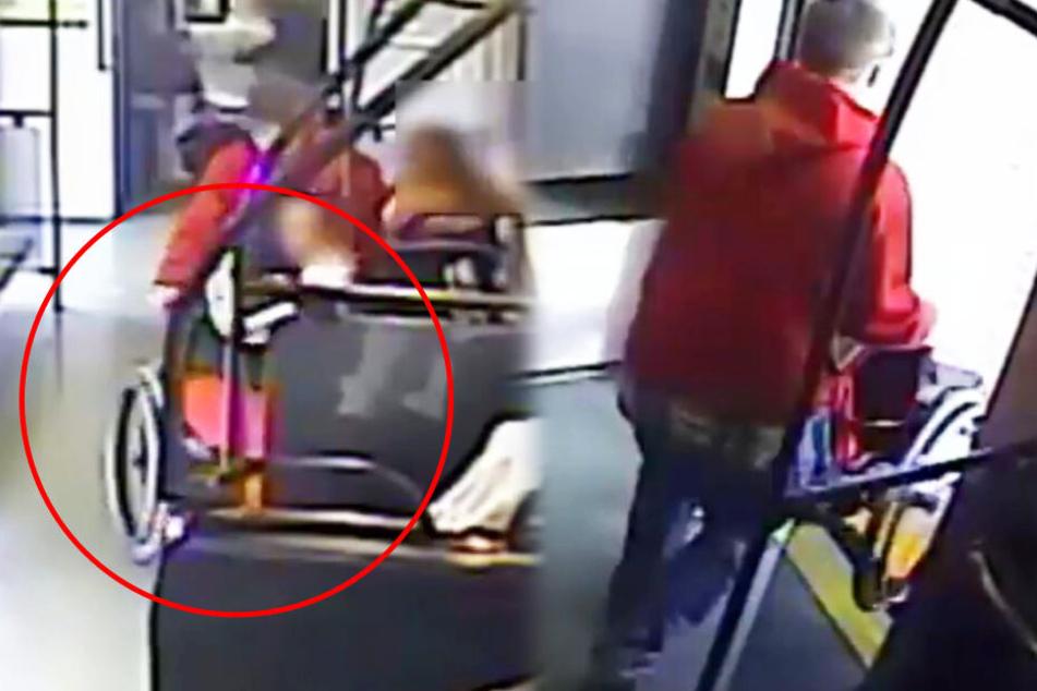 Krasser Raub: Typ schmeißt Frau aus Rollstuhl und rennt damit weg