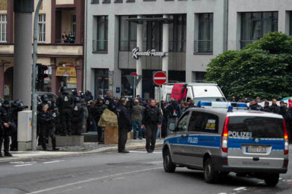 Im September hattenrechte Jugendliche gleichaltrige Flüchtlinge durch die Straßen in Bautzen gejagt (Archivbild).