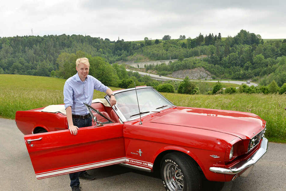 TAG24-Redakteur Dominik Brüggemann testete einen 67er-Verleih-Mustang