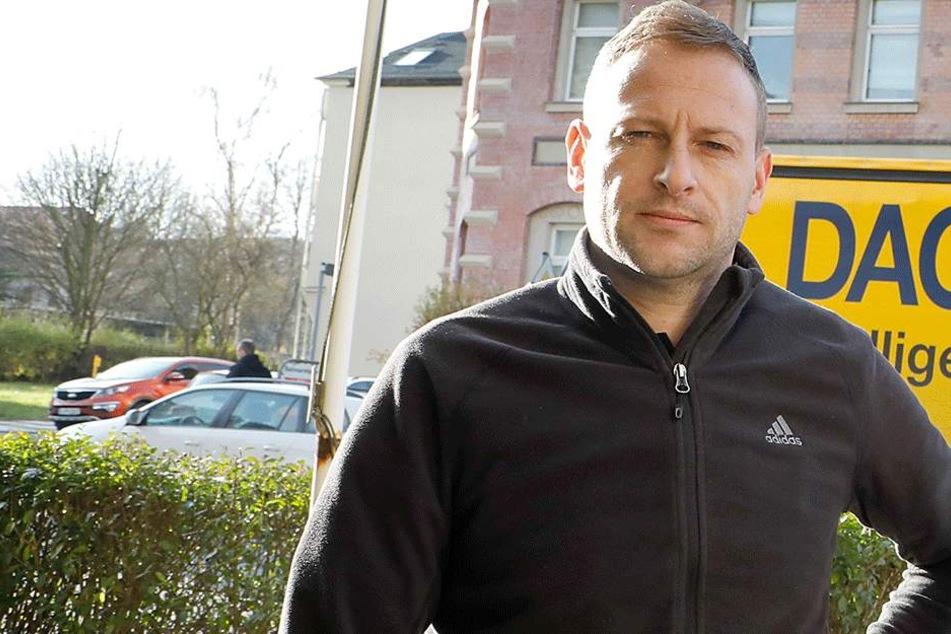 Mathias Berghänel (38) hat Angst vor einem auffälligen Flüchtling in der Lützowstraße.