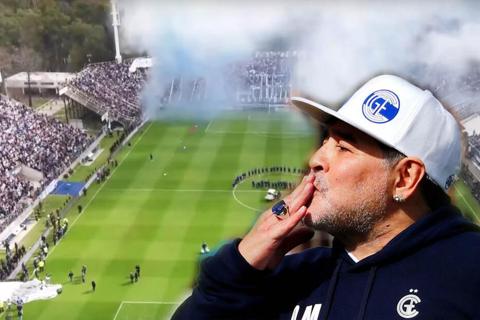 Maradona weint! Fan-Extase und Platzsturm bei Vorstellung