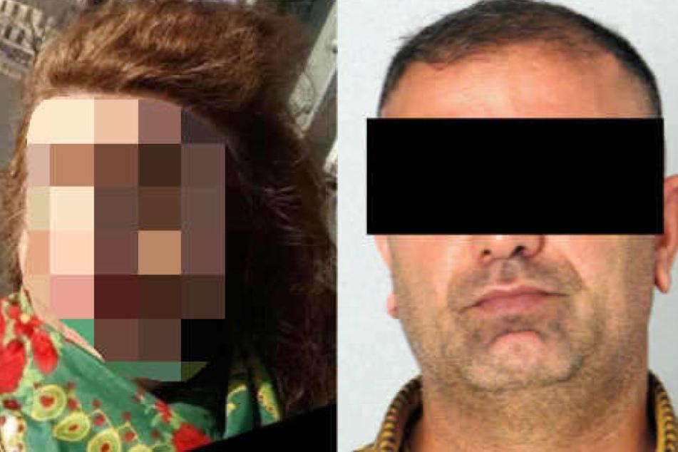 Das Bild zeigt eine Aufnahme von Saray G. (l.) und ein Foto ihres mutmaßlichen Mörders, Hayreddin T..