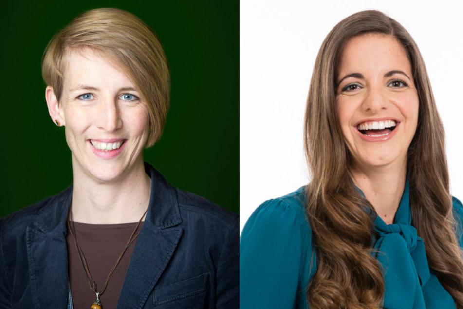 Für die Grünen geht Katrin Habenschaden ins Rennen (l.), für die CSU tritt Kristina Franck an. (Bildmontage)