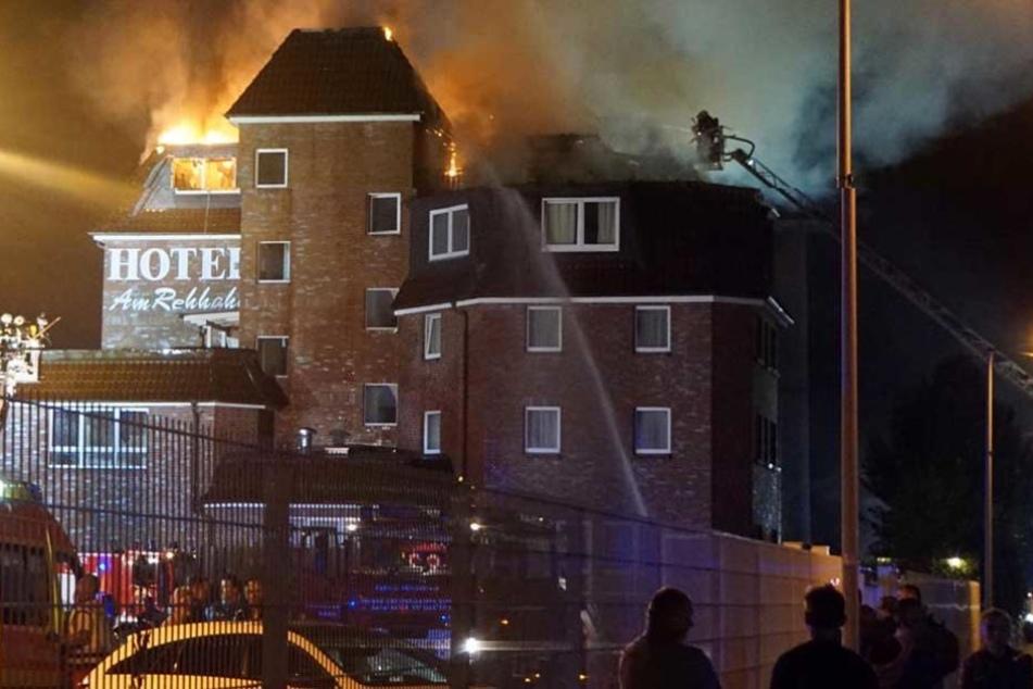 Das Hotel Berliner Tor. Am Rehhahn brannte in der Nacht zum Donnerstag.