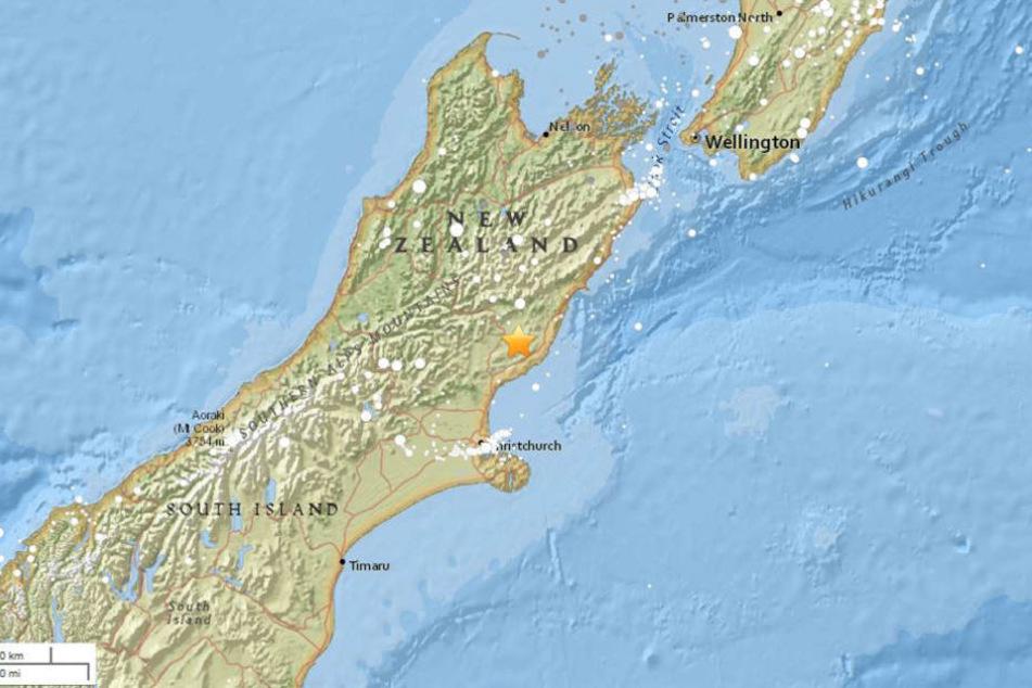 Die Region in Canterbury/Neuseeland wurde von einem schweren Erdbeben heimgesucht.