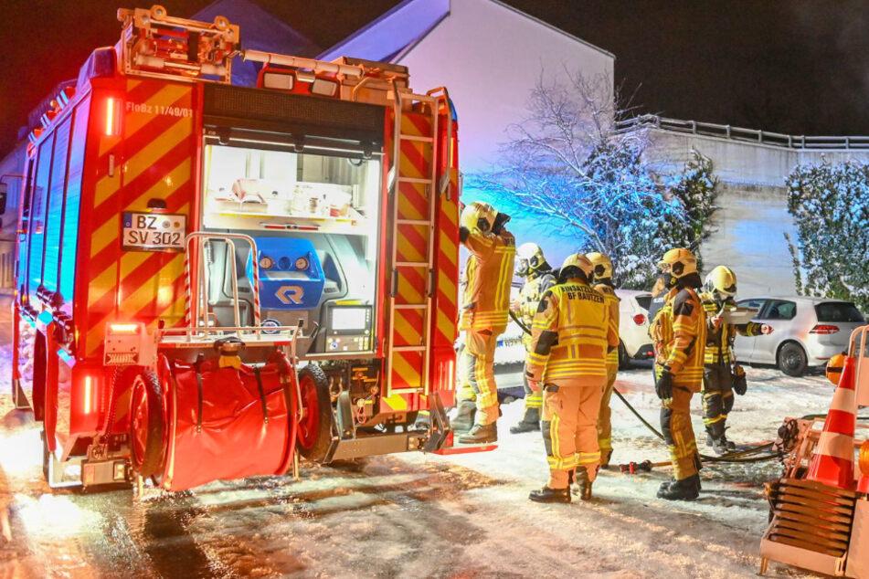Feuerwehr bei nächtlicher Brandserie in Bautzen mehrfach gefordert