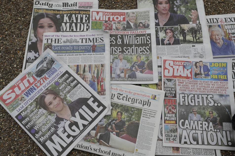 Das Interview von Meghan und Harry beherrscht zurzeit die britischen Schlagzeilen.