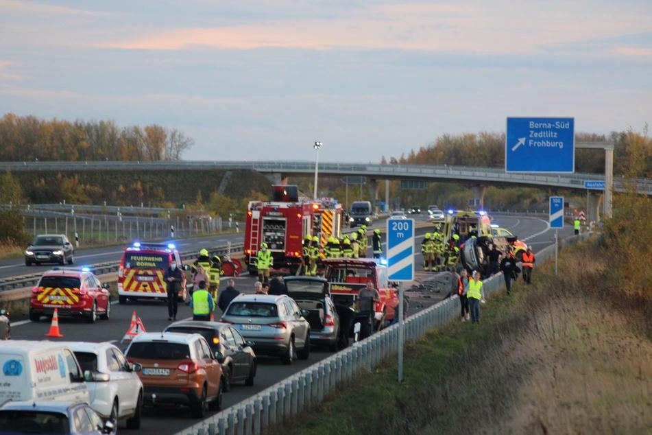Die Autobahn musste vollständig gesperrt werden.