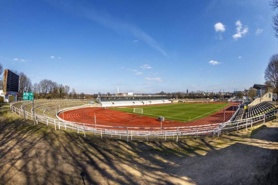 Das Heinz-Steyer-Stadion in der Friedrichstadt wird vorerst nicht weiter  saniert.