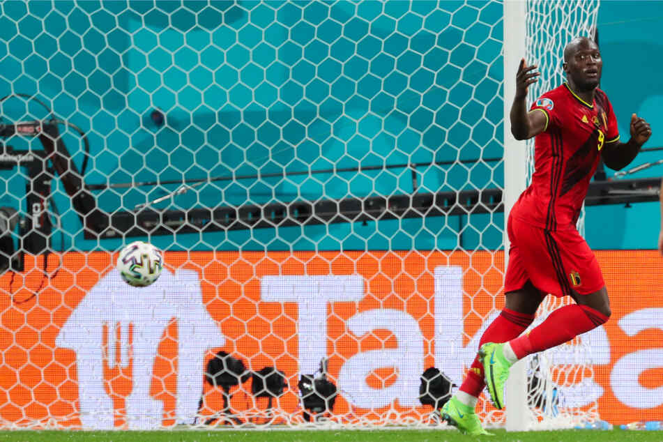 Der belgische Sturmbulle Romelu Lukaku durfte nach einem Abseitstor auch einen Treffer bejubeln, der zählte.