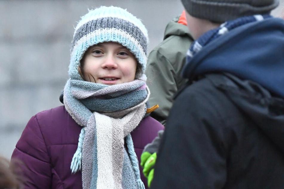 So sieht sie mit 17 aus: Greta Thunberg am Freitag, den 3. Januar.