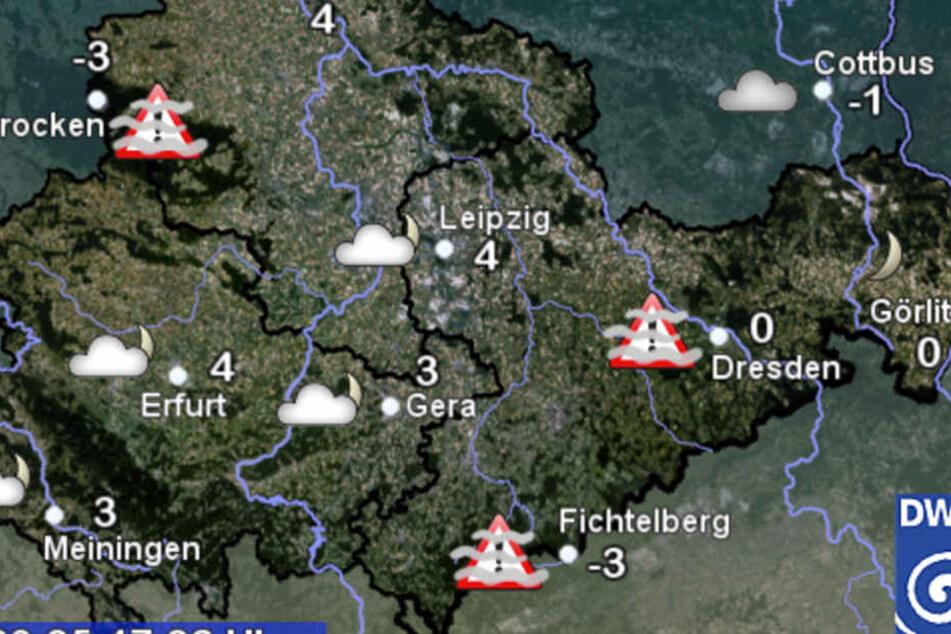 Aktuell ist es noch sehr kühl in Sachsen, bei Temperaturen von Minus drei bis maximal vier Grad.
