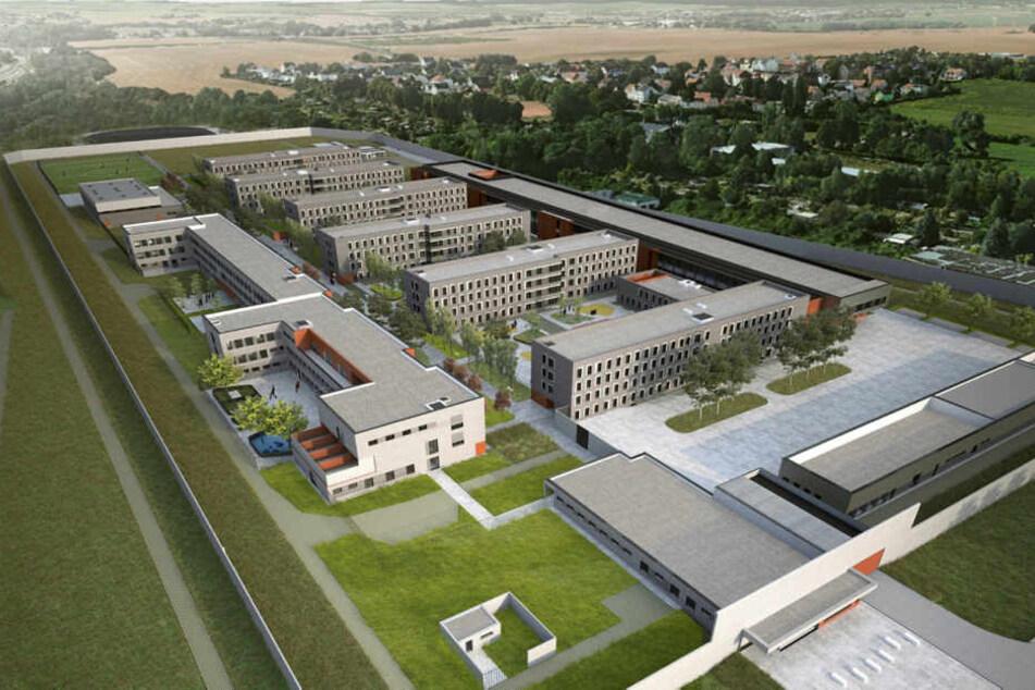 Wie auf dieser Visualisierung soll der Superknast einmal aussehen und Platz für 820 Häftlinge bieten.