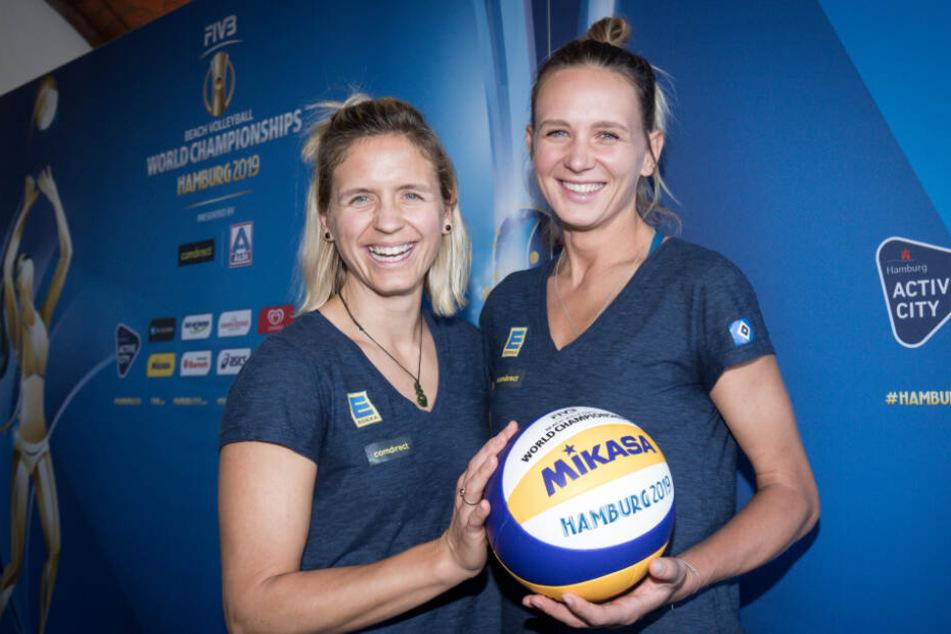 Laura Ludwig und ihre neue Partnerin Margareta Kozuch
