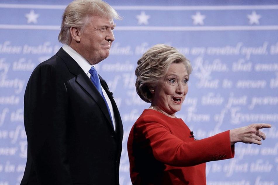 Clinton und Trump zeigten sich nach außen hin locker, doch das TV-Duell wurde hitzig geführt.