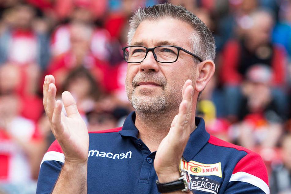 Unions neuer Trainer Urs Fischer kann sich auf die ersten beiden Spiele freuen.