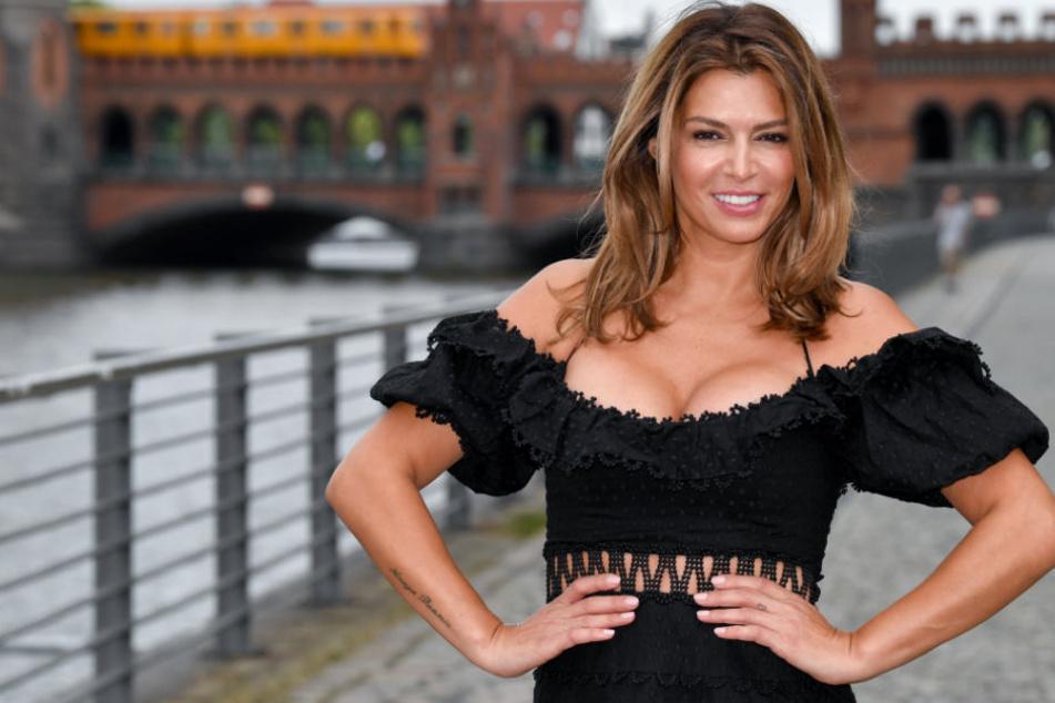 """Sabia Boulahrouz steht bei einem Pressetermin zur Vorstellung der Show """"Global Gladiators""""."""