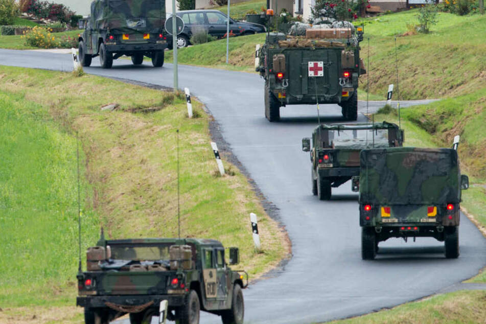 US-Truppen auf dem Weg zum Truppenübungsplatz in Grafenwöhr. (Archivbild)