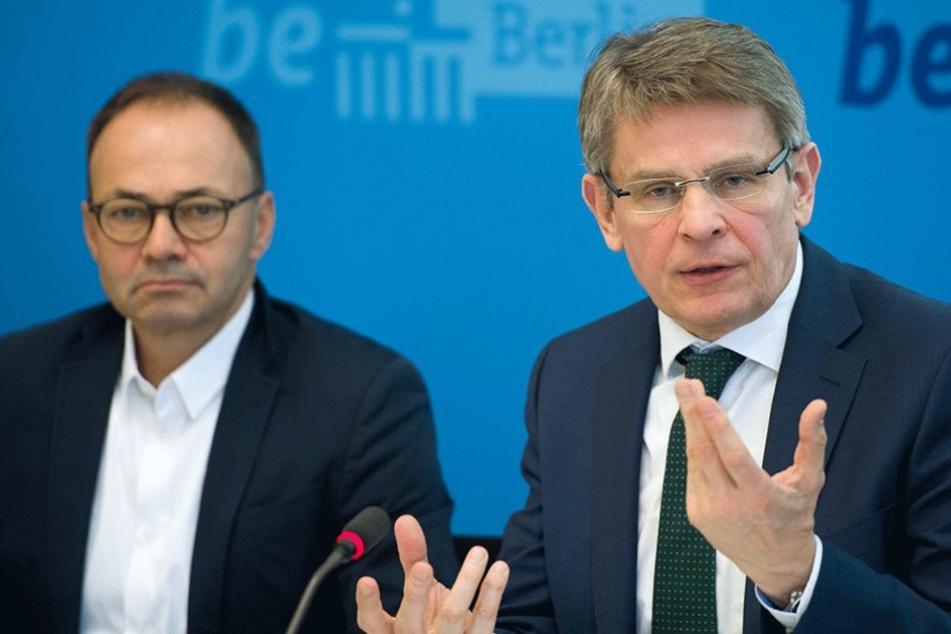 Berlins Polizeipräsident Klaus Kandt (56) stellte die Kriminalitätsstatistik 2016 vor.