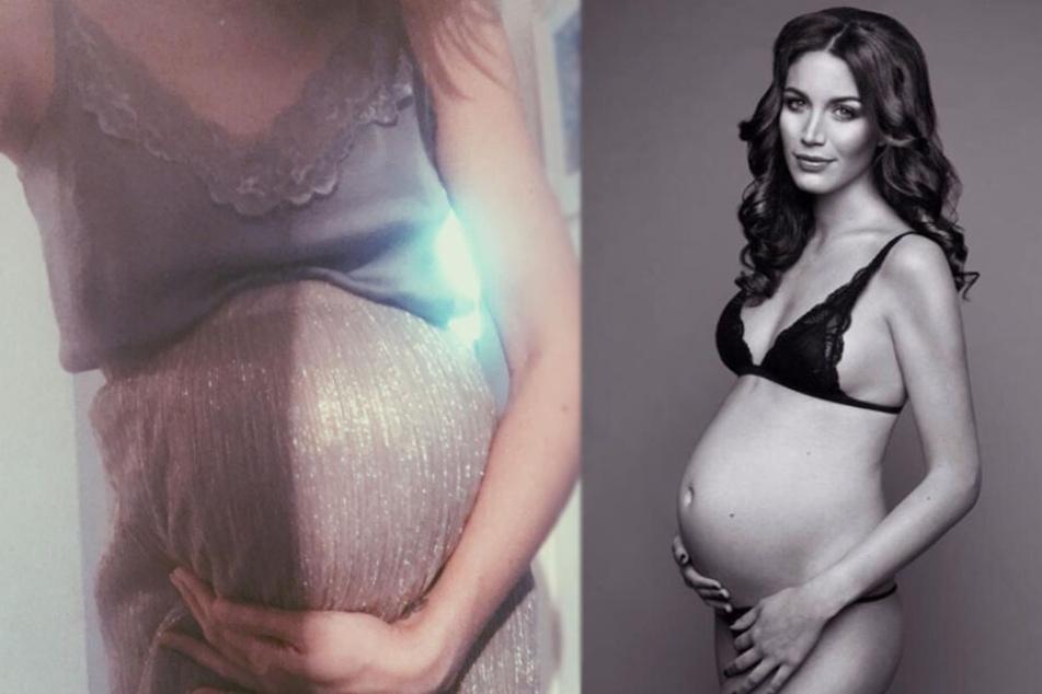 Tessa Bergmeier zeigte während ihrer Schwangerschaft stolz ihren Bauch.