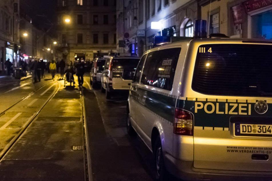 In der Äußeren Neustadt musste die Polizei am Wochenende zu mehreren Einsätzen ausrücken.
