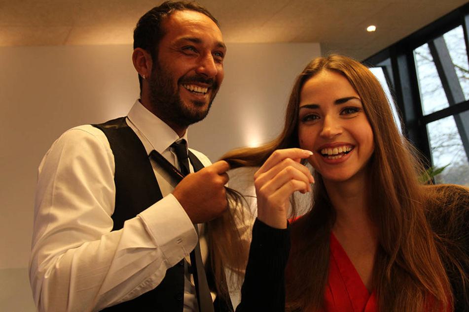 Zwei Stars unter sich: Promitänzerin Ektarina Leonova (29) und Starfriseur Daniele Dragotta.