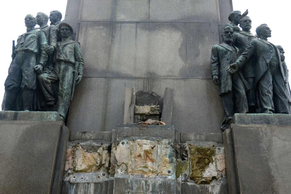 Spektakulärer Diebstahl: Unbekannte klauen 400-Kilo-Statue von Denkmal