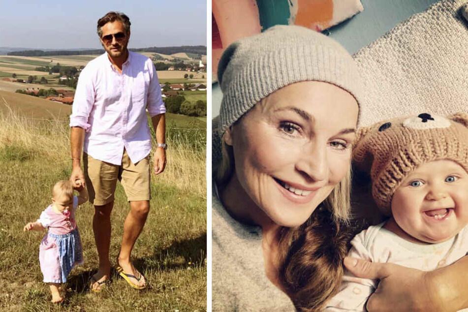 Ava kann einfach alles tragen: Entweder zuckersüße Bären-Mütze oder eben ein Dirndl. (Bildmontage)