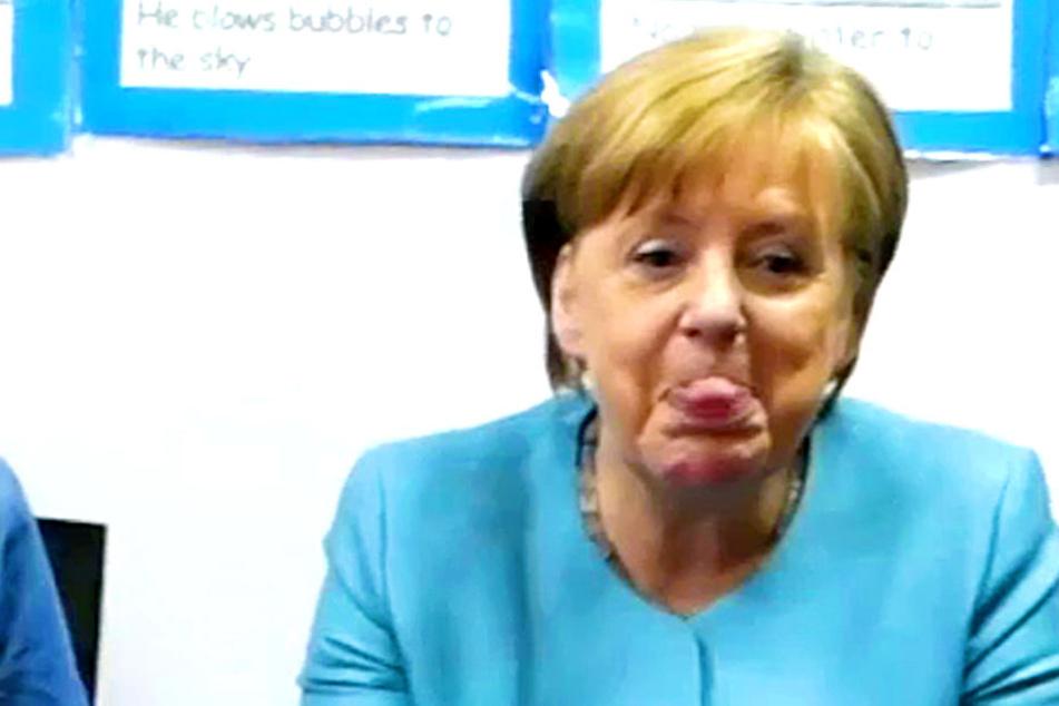 Merkel außer Rand und Band: So haben wir die Kanzlerin noch nie gesehen