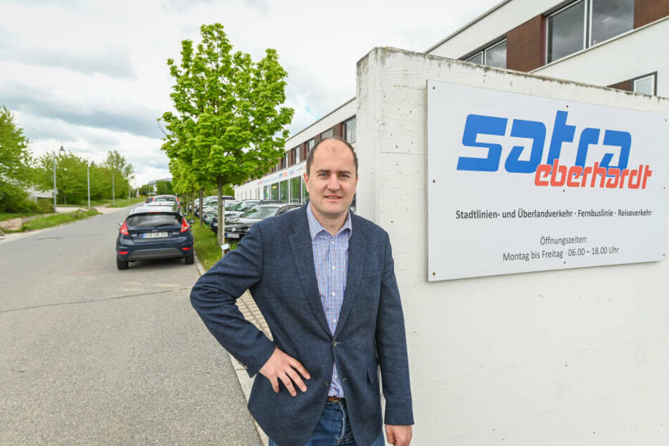 Geschäftsführer Matthias Peschke freut sich auf Verstärkung bei den Busfahrern (m/w/d).