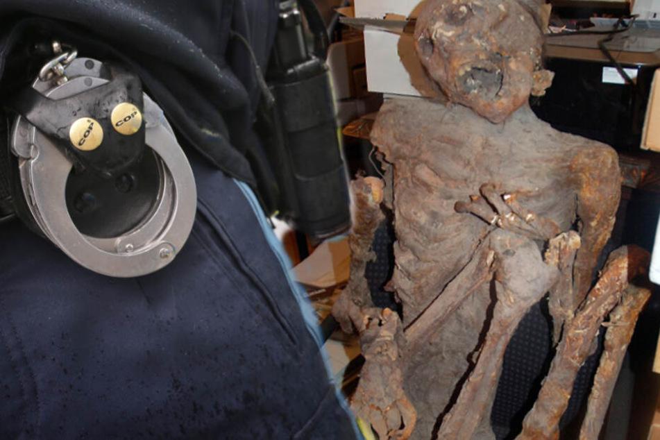 Gruselfund in Lagerraum: Frau findet Mumie, nur die Polizei ist nicht geschockt