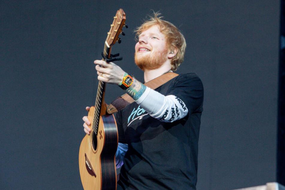Ed Sheeran gibt ein Konzert in Madrid.