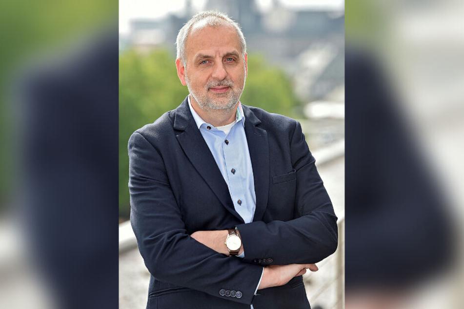 Der Spitzenkandidat der Linken, Rico Gebhardt (56).