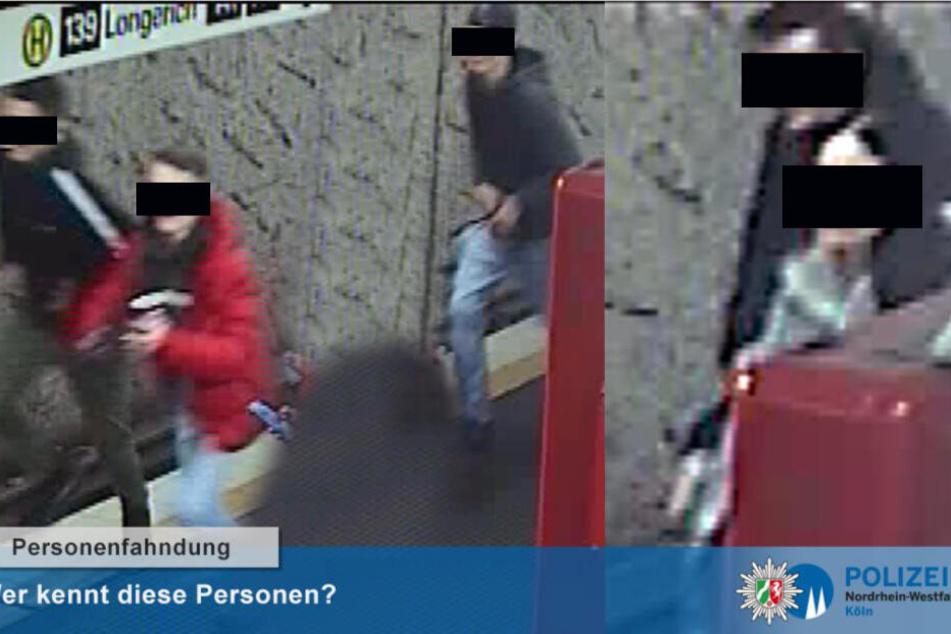 Die Polizei Köln konnte dank mehrerer Hinweise die fünf Tatverdächtigen identifizieren.