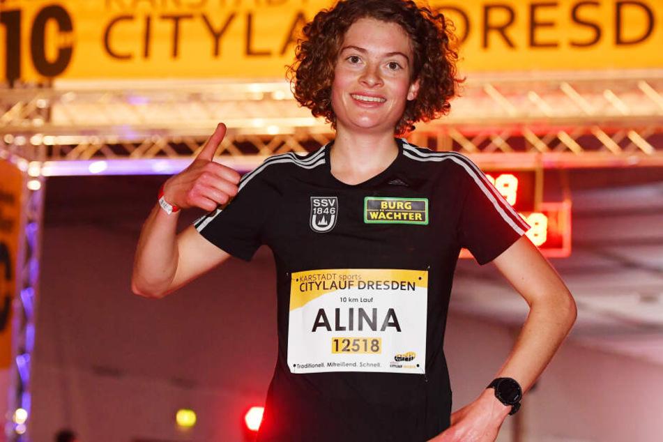 Alina Reh (21) gewann den Dresdner Citylauf!