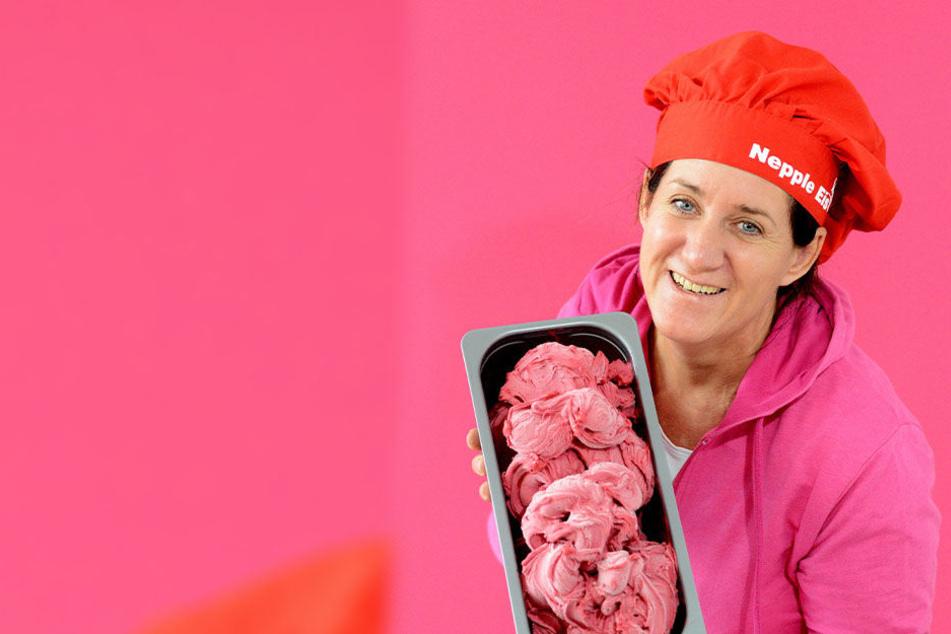 """Annette Nepple (51) möchte mit """"Nepple Eis"""" beim Voting ganz vorn landen."""